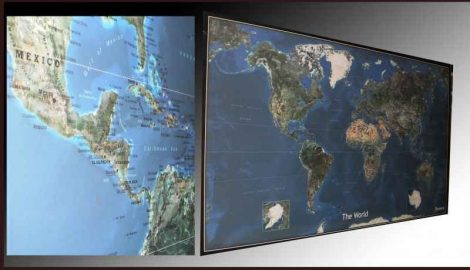 WELTKARTE SATELLITE 145X 90 CM  WALLPAPER/SATELLITE
